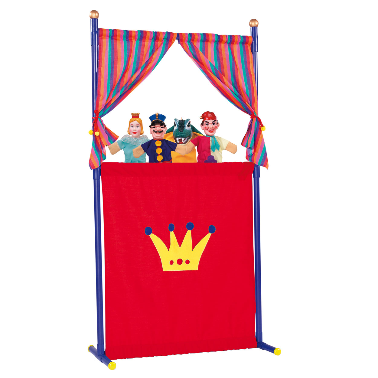 poppen theater met 4 handpoppen online kopen. Black Bedroom Furniture Sets. Home Design Ideas