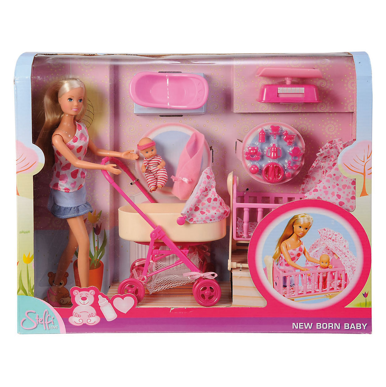 New Baby Doll Toy Steffi Love New Born Baby Set Online