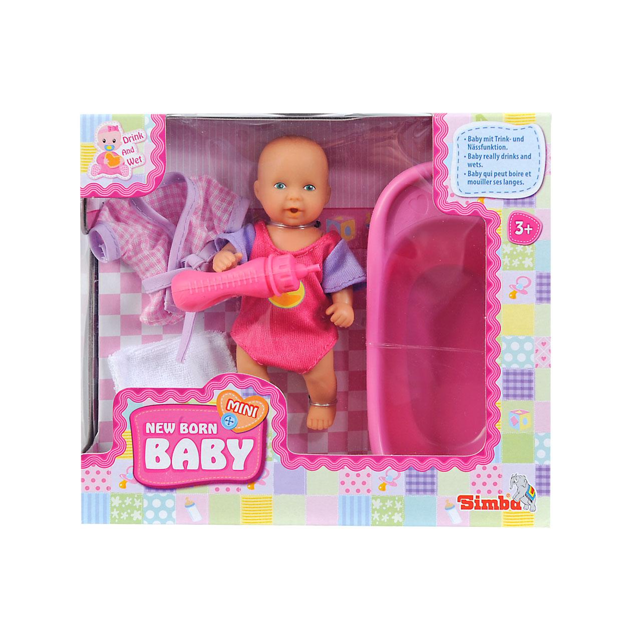 mini new born baby in bad set online kopen. Black Bedroom Furniture Sets. Home Design Ideas