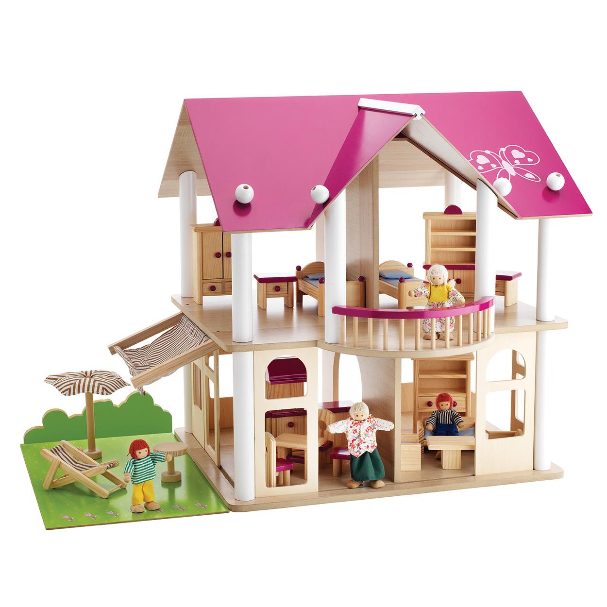 Eichhorn roze poppenhuis online kopen for Casas de juguete para jardin baratas