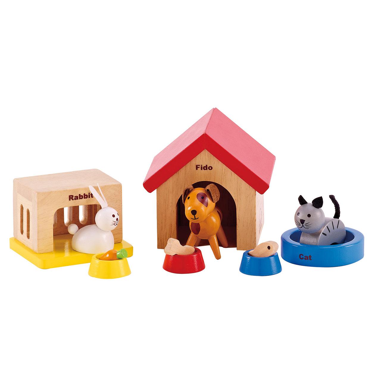 Hape poppenhuis huisdieren online kopen for Poppenhuis poppetjes
