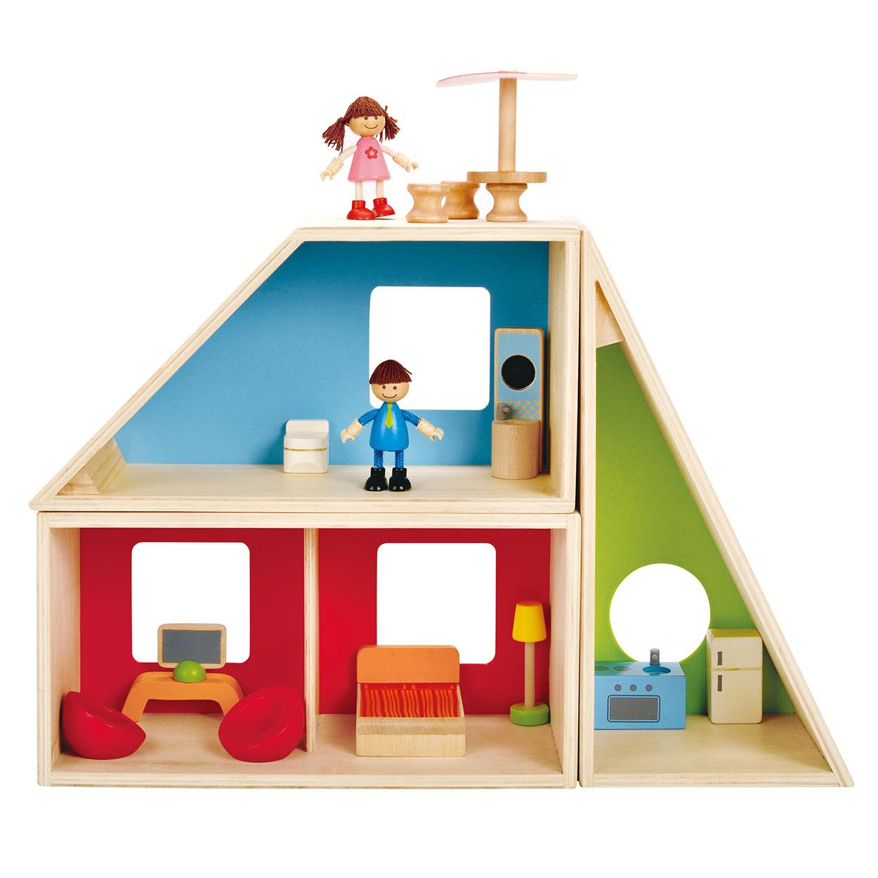 Hape aanpasbaar poppenhuis online kopen for Poppenhuis bouwen