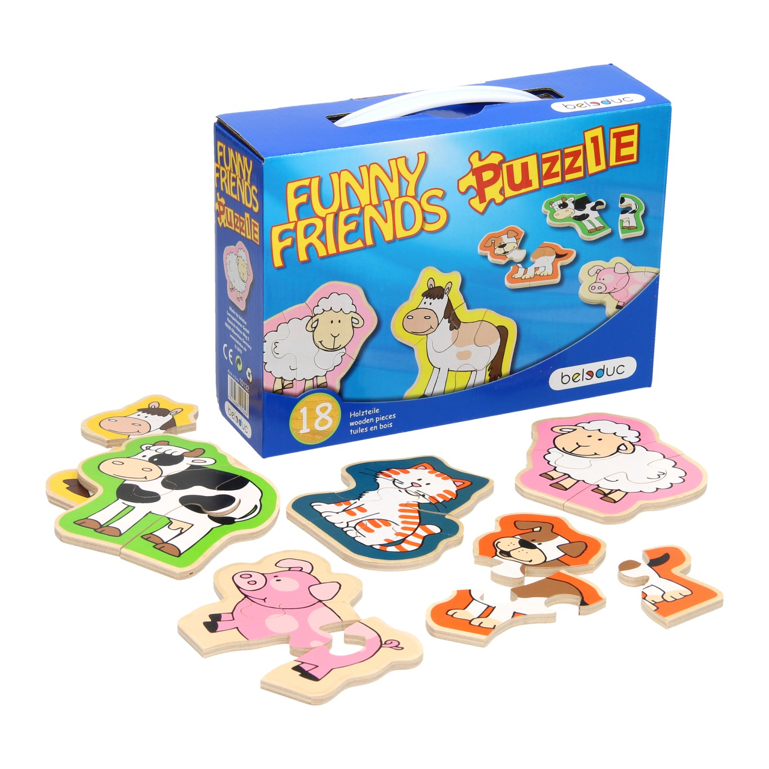 Beleduc Funny Friends Puzzel