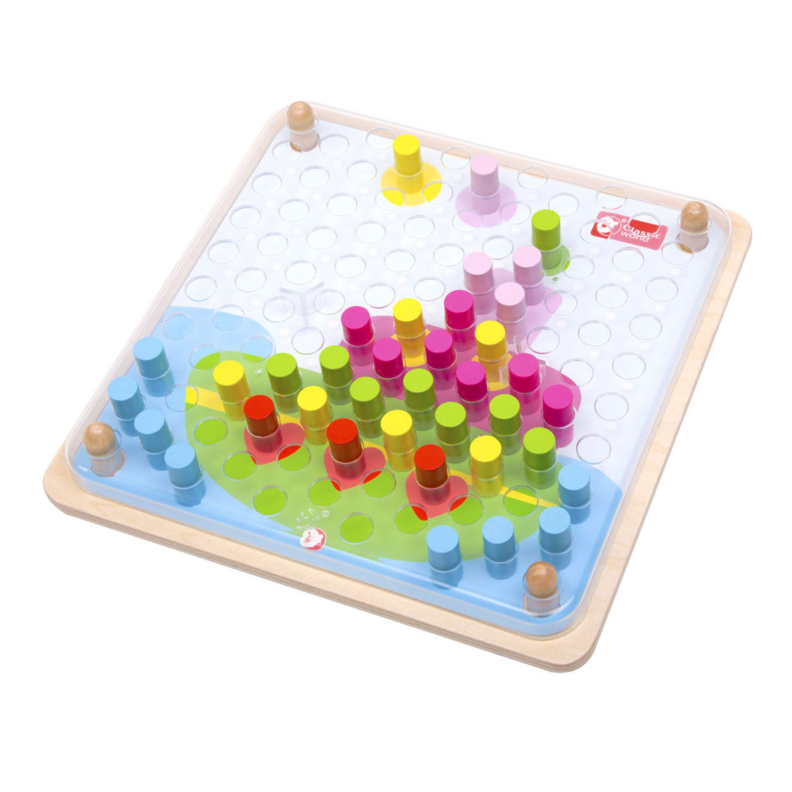 Classic World Houten Puzzel Pinnen, 63dlg.