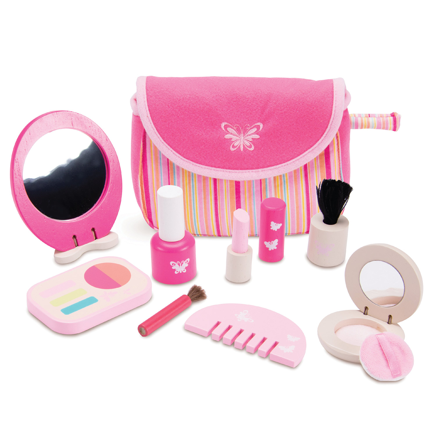 Houten Make-up Set Roze