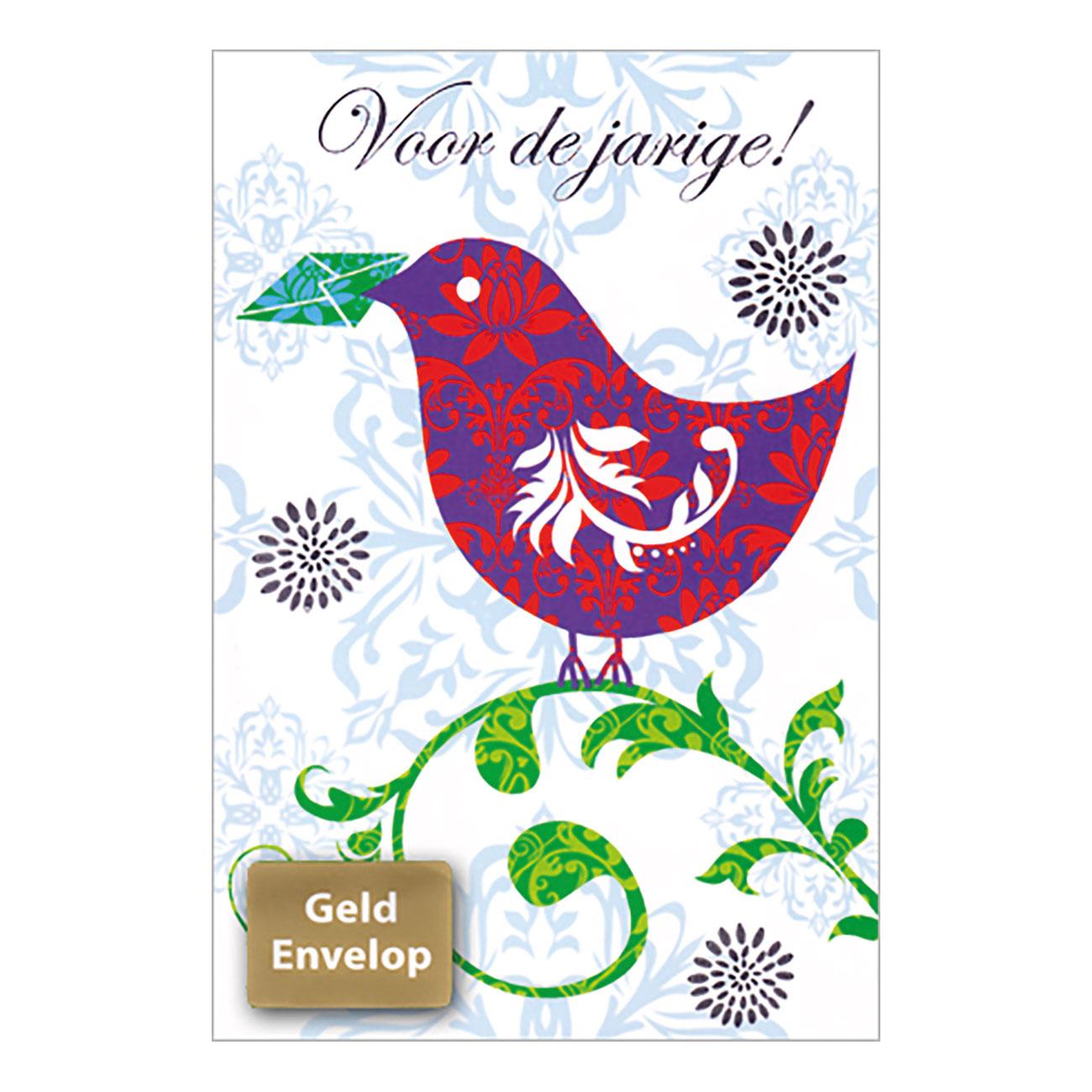 Wenskaart Verjaardag Vogel Met Geldenvelop Online Kopen Lobbes Nl