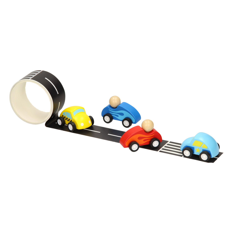 Houten Auto met Wegtape, 8mtr online kopen   Lobbes Speelgoed