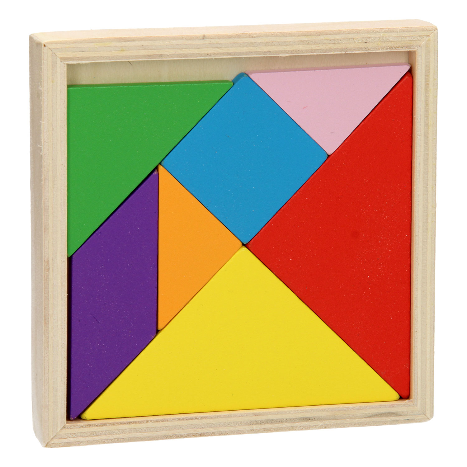 Tangrampuzzel Hout, 7dlg.
