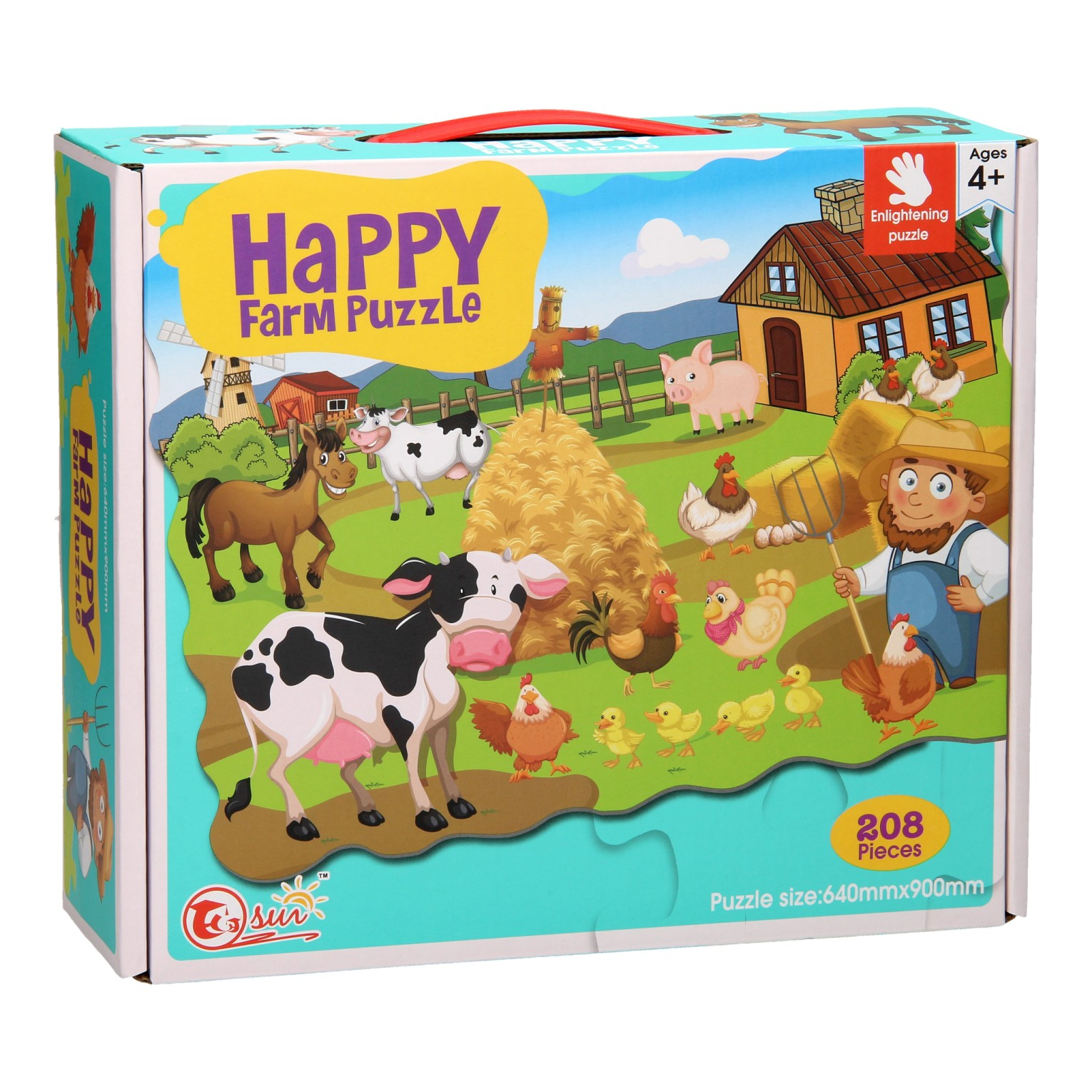 Happy Farm Puzzel, 208st.