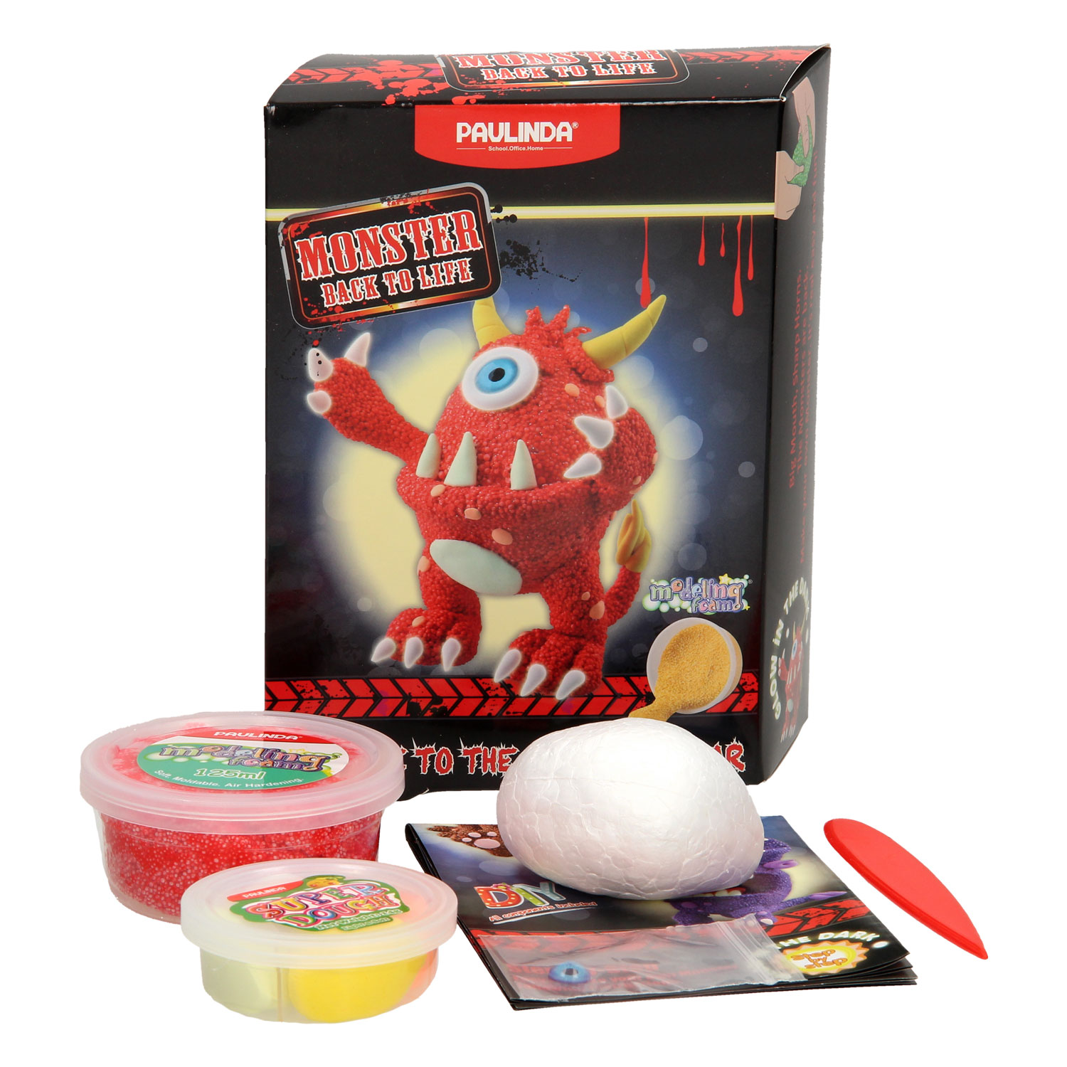 Modeling Foamklei en Super Dough Monster - Rood