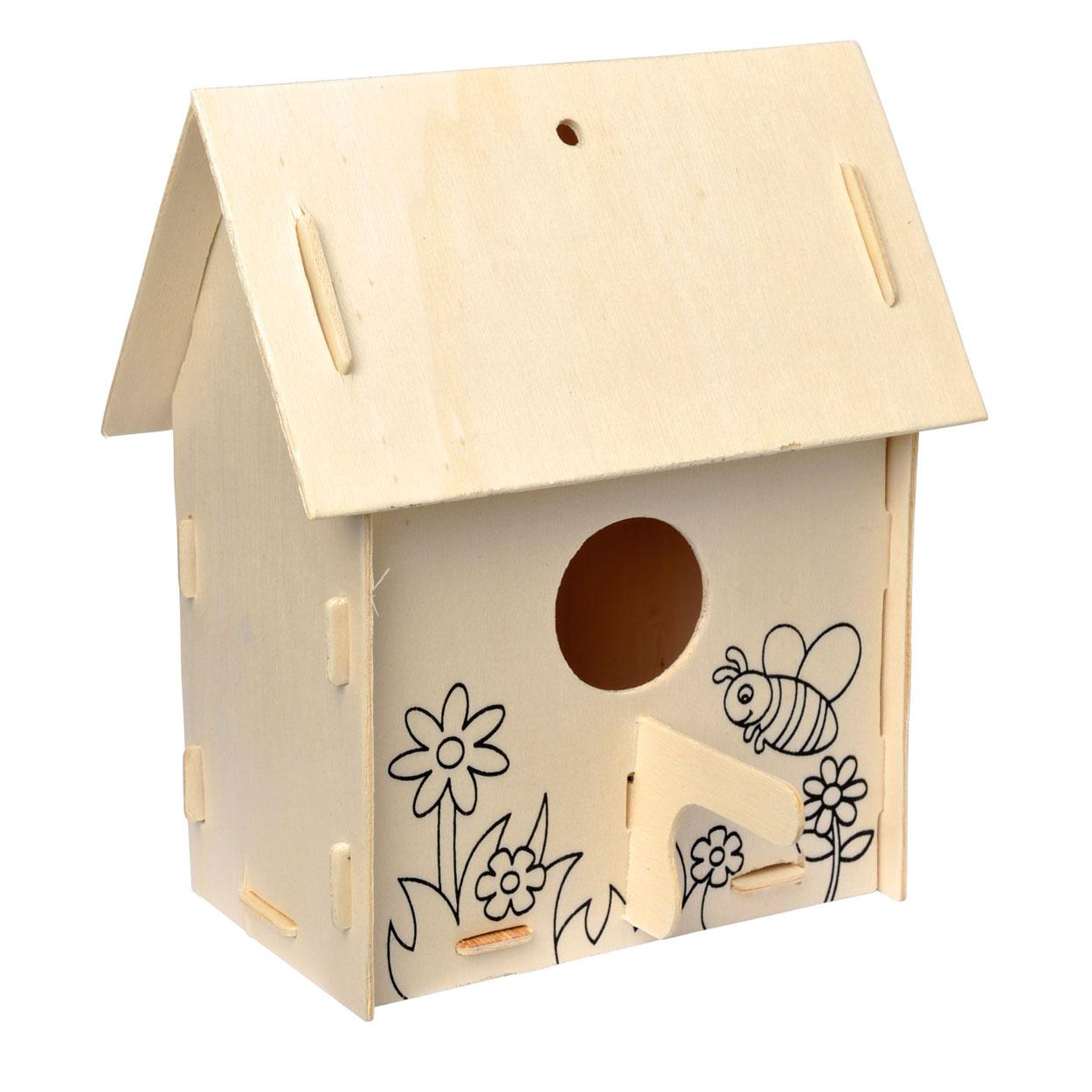 Maak je eigen houten vogelhuisje variatie a online kopen for Foto op hout maken eigen huis en tuin